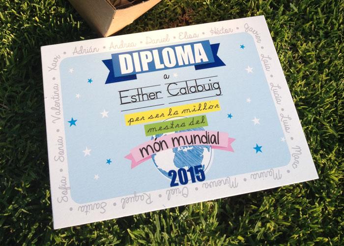 Regalo para profe personalizado diploma