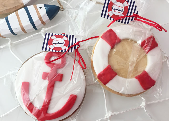 Recordatorio Comunión Marinero galletas