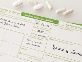 Invitaciones boda receta médica, farmaceuticos
