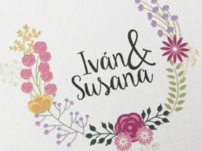 invitación boda vintage floral personalizada