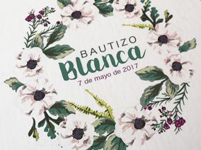 Invitación BAUTIZO floral bebe