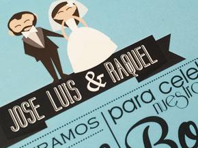 Invitaciones Boda Con Caricaturas Invitaciones Valencia